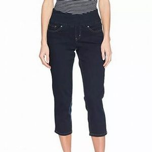 Jag Jeans Crop Straight-Leg Pull-On Stretch Jeans